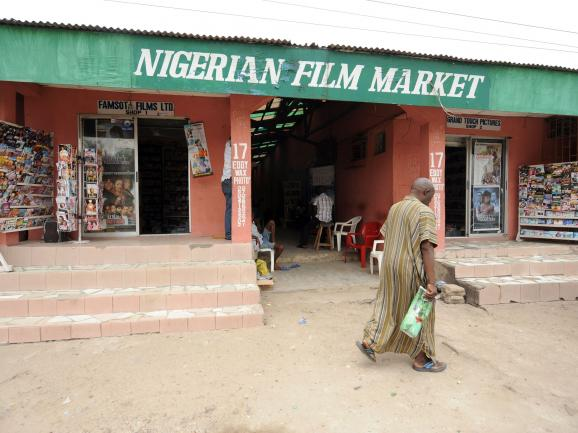 Credit Pius Utomi Ekpei / AFP/Getty Images. A typical Nigerian film market in Lagos.